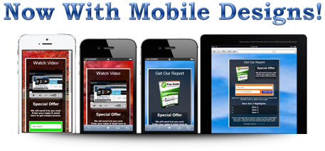 Mobile Squeeze Page Examples