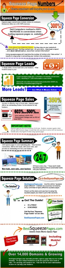 Squeeze Page Infographics